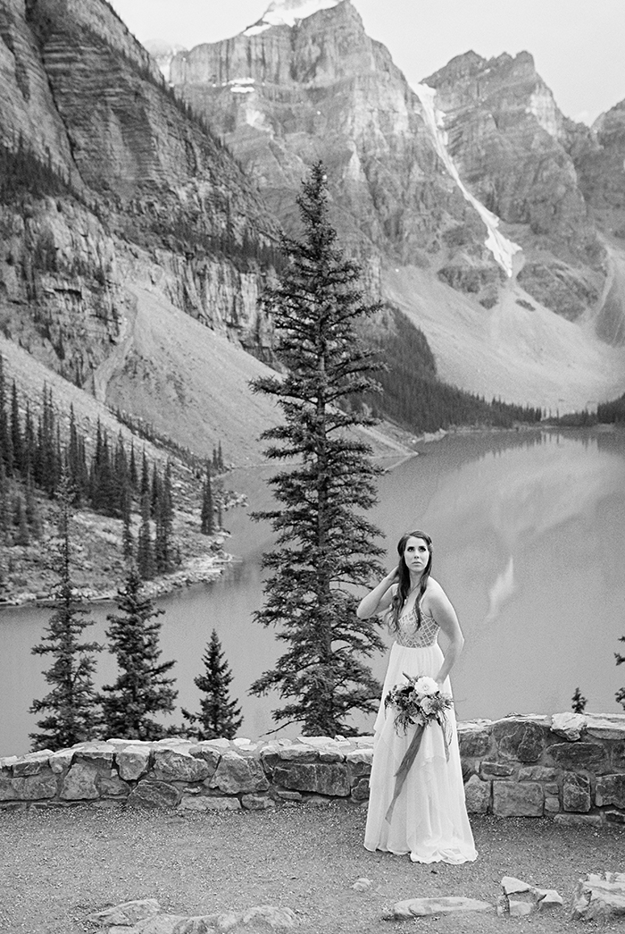 Moraine Lake Bridal Portraits