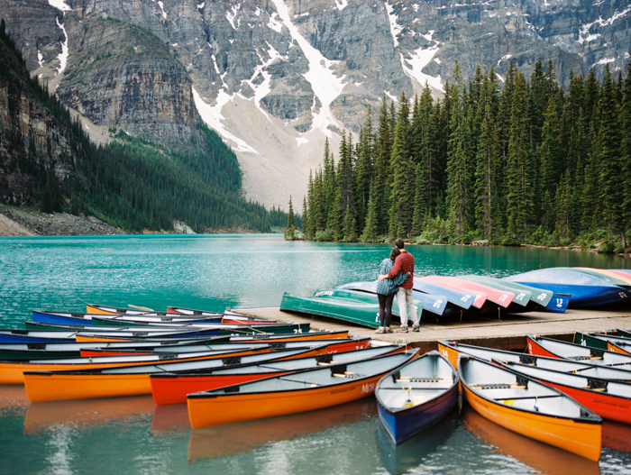 Moraine Lake Canoes Portrait