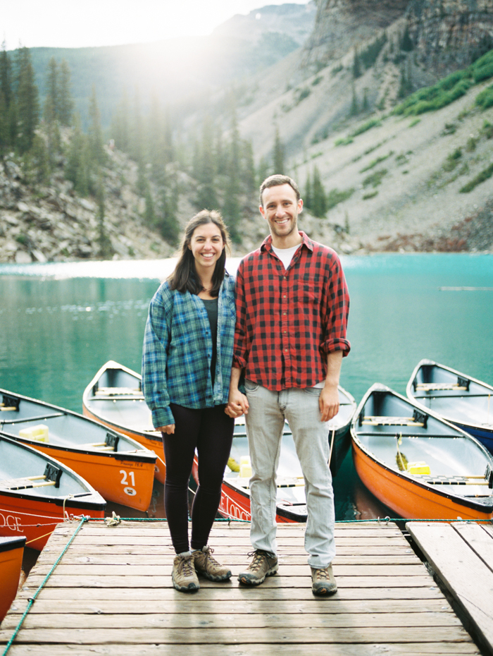 Engagement Session at Moraine Lake Dock