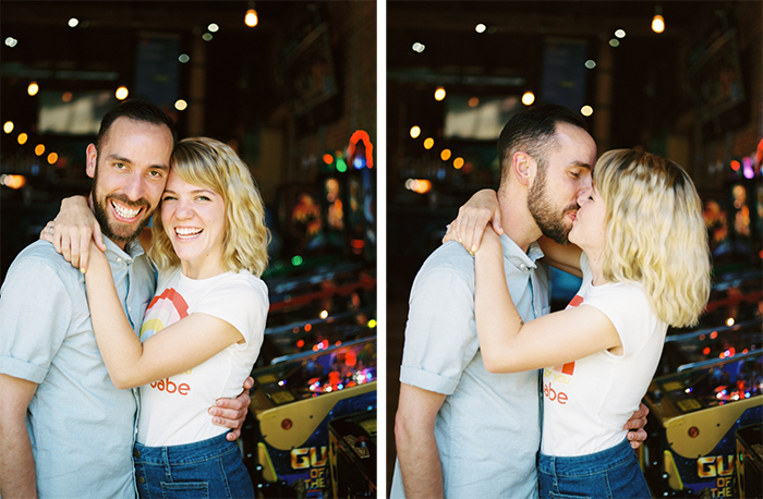 Raleigh Barcade Engagement Session