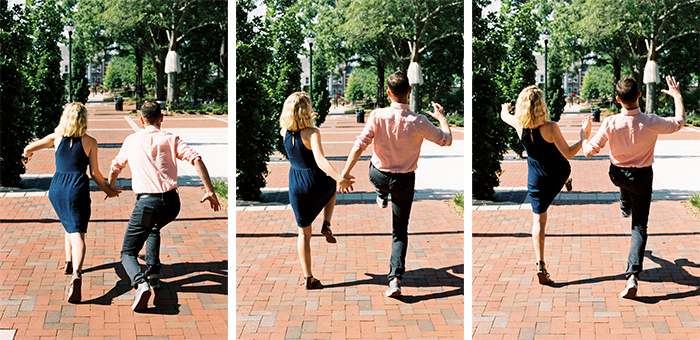 Silly Walk Engagement Photos